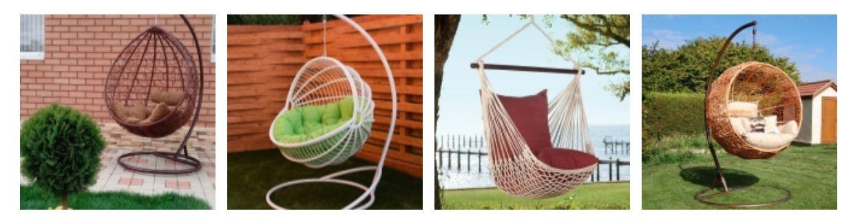 Какую мебель выбрать для отдыха в саду: кресла качалки